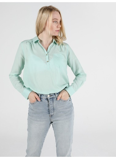 Colin's Kadın Gömlek U.Kol Yeşil
